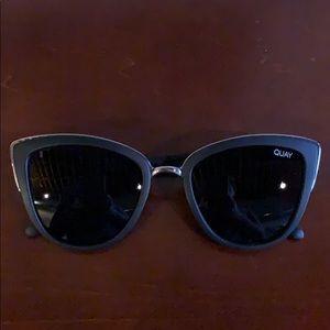 Quay black cat eye sunglasses